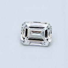 Recommended Stone #1: 0,35-Carat Emerald Cut Diamond