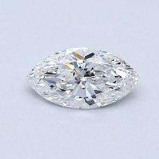 0.42-Carat Marquise Diamond Very Good D VS2