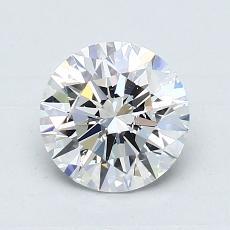 所選擇的鑽石: 1.01 克拉圓形切割鑽石