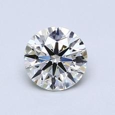 0.90-Carat Round Diamond Ideal K VS1
