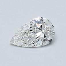 0,50-Carat Pear Diamond Very Good F VVS1