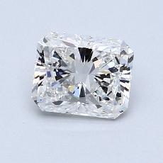 0.91-Carat Radiant Diamond Very Good E VS1