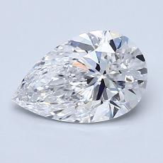 1.20-Carat Pear Diamond Very Good D VVS1