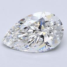 4.02-Carat Pear Diamond Very Good E VVS2