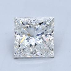 1.50-Carat Princess Diamond Very Good H SI1