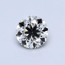 0.70-Carat Round Diamond Good J SI2