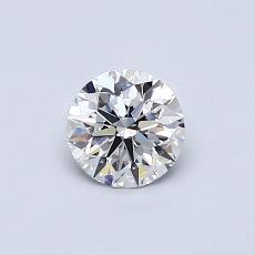 0.51-Carat Round Diamond Ideal D IF