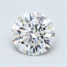1,01-Carat Round Diamond Ideal F VVS2