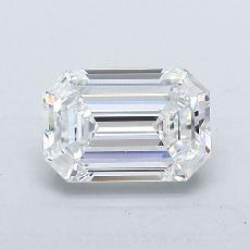 推荐宝石 1:1.02 克拉祖母绿切割钻石