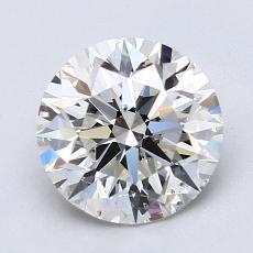 2.00 Carat 圓形 Diamond 理想 J SI1