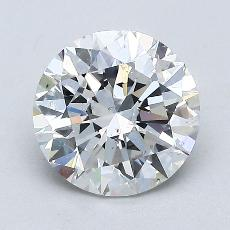 1.50-Carat Round Diamond Ideal F SI2