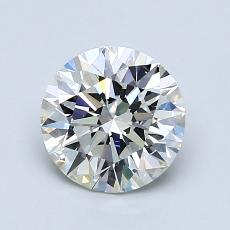 1.23-Carat Round Diamond Ideal H VVS2