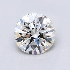 目标宝石:1.01克拉圆形切割钻石