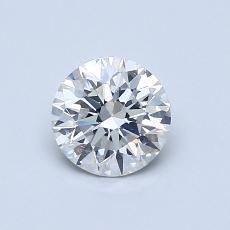 0.70-Carat Round Diamond Ideal H SI1