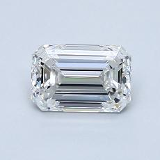 0.90-Carat Emerald Diamond Very Good E VVS2