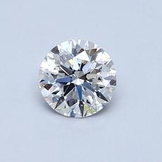 0,53-Carat Round Diamond Ideal D IF
