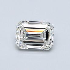 Pierre recommandée n°4: Diamant taille émeraude 0,70 carat