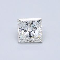 0.50-Carat Princess Diamond Very Good G VVS2