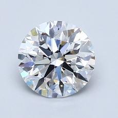 1.40-Carat Round Diamond Ideal D FL