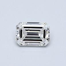 Pierre cible: Diamant taille émeraude 0,53 carat