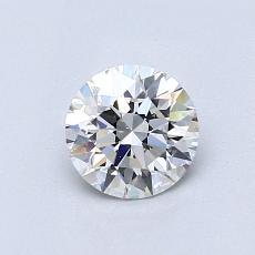 0.70-Carat Round Diamond Ideal F VS2
