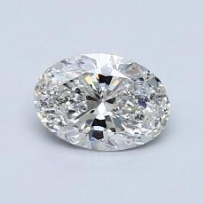 0.76-Carat Oval Diamond Very Good F SI2