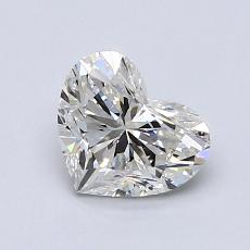 0.96-Carat Heart Diamond Very Good G SI1