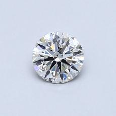 0.40 Carat 圆形 Diamond 理想 G SI1