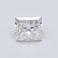 0.80 Carat 公主方形 Diamond 非常好 E VS1