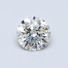 0,60-Carat Round Diamond Ideal K VS2