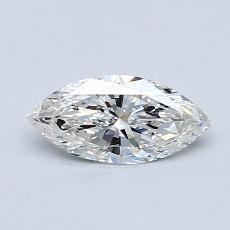 推荐宝石 4:0.50 克拉马眼形钻石
