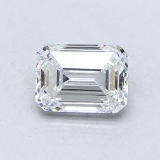 0,81-Carat Emerald Diamond Very Good D VVS1
