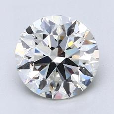 2.01-Carat Round Diamond Ideal H VVS1