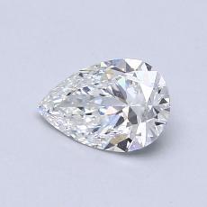 0.53-Carat Pear Diamond Very Good F SI1