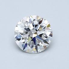 0.90 Carat 圆形 Diamond 非常好 F VVS2