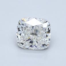0.90-Carat Cushion Diamond Very Good G VVS1