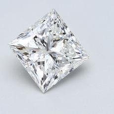 Pierre recommandée n°1: Diamant taille princesse 1,10 carats