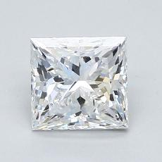 1.52-Carat Princess Diamond Very Good D VVS2