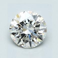 1.30-Carat Round Diamond Ideal I VS1