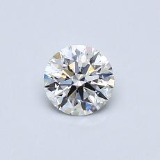 推荐宝石 1:0.44克拉圆形切割钻石