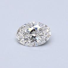 0.34-Carat Oval Diamond Very Good F VVS1
