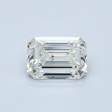 0.70-Carat Emerald Diamond Very Good K SI1