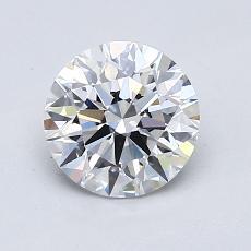 1.03-Carat Round Diamond Ideal D VS2