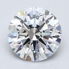 2.01-Carat Round Diamond Ideal F VS2