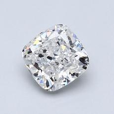1.00-Carat Cushion Diamond Very Good E SI1