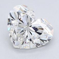 Piedra recomendada 3: Diamante con forma de corazón de 2.30 quilates