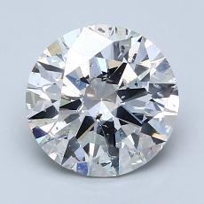 2.00 Carat 圓形 Diamond 理想 G SI2