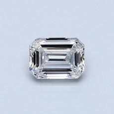 0.50-Carat Emerald Diamond Very Good F VS2