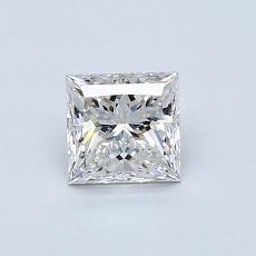 0.71-Carat Princess Diamond Very Good F VS1
