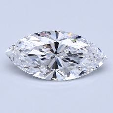 1.72-Carat Marquise Diamond Very Good D IF